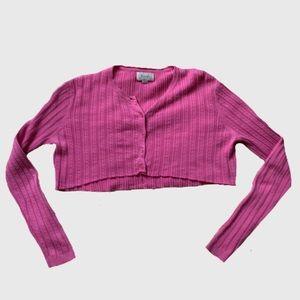 Cropped Pink Cardigan